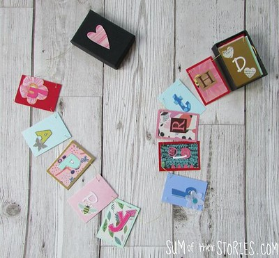 bunting in a box birthday card