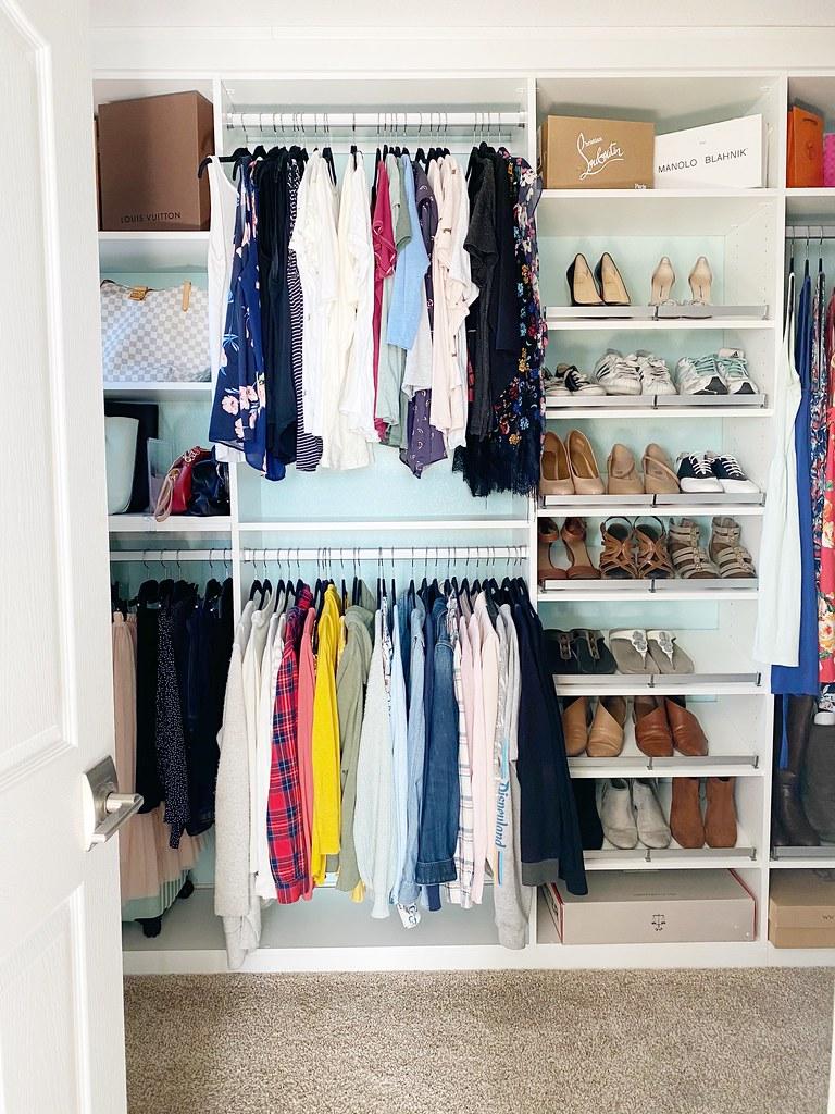 Master closet sneak peek