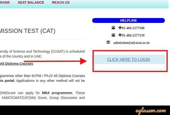 CUSAT CAT 2021 Answer Key