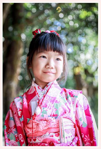 七五三 7歳の女の子  ピンクの着物