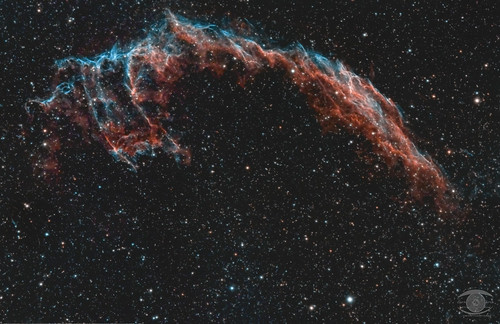 NGC 6992 - The Eastern Veil Nebula (bicolour)