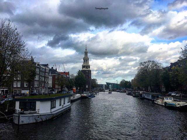 Clouds over the Montelbaanstoren in Amsterdam