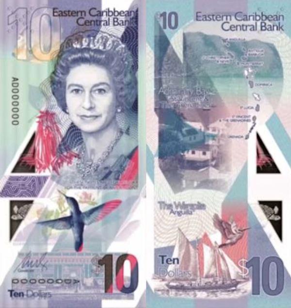 10 Dolárov Východný Karibik 2019, P56 polymer