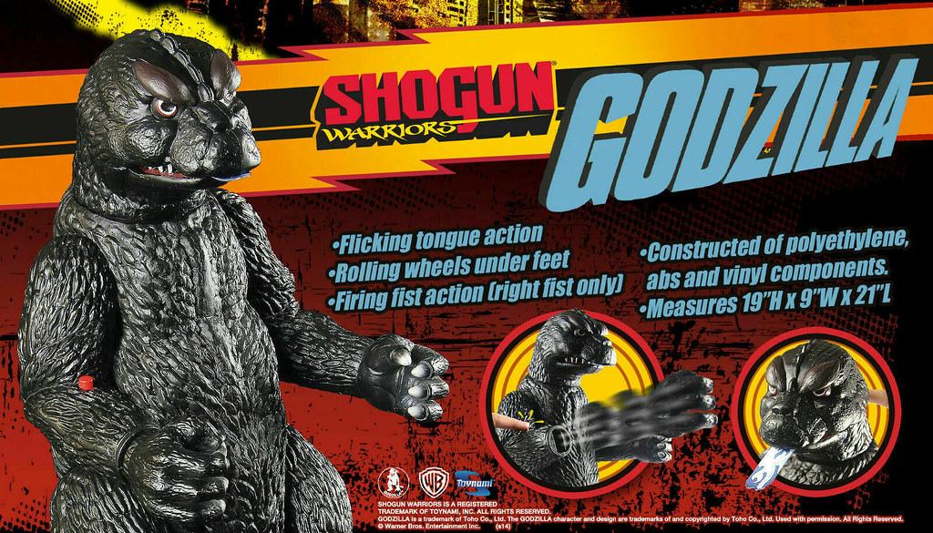 復古大尺寸重磅回歸!TOYNAMI  Shogun Warriors 哥吉拉 巨型可動搪膠玩具(Shogun Warriors 1964 Godzilla Jumbo Figure)