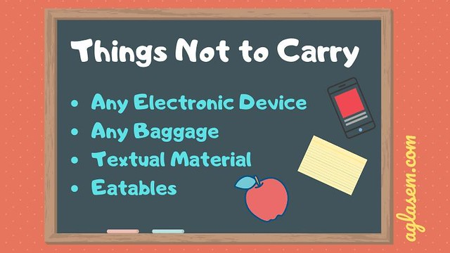 MAHA TET 2019 Admit Card -Things not to carry