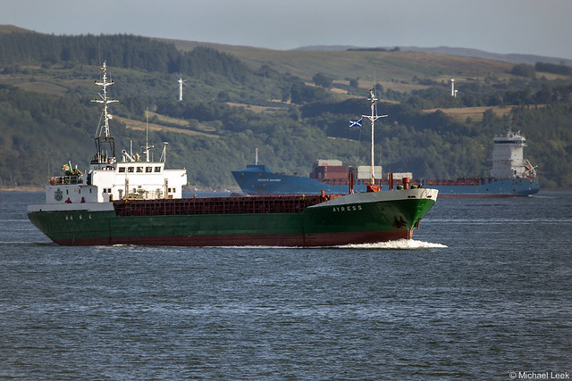The Dominican registered cargo ship Ayress, IMO 7816135; The Holy Loch, Scotland