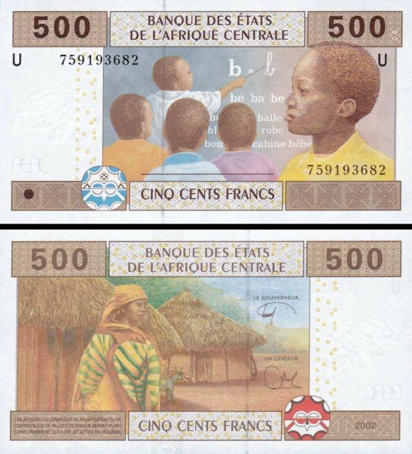 500 Frankov Kamerun (Stredoafrické štáty) 2002, P206U