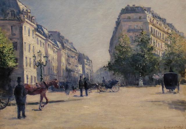 Gustave Caillebotte (Parigi, 19 agosto 1848 - Gennevilliers, 21 febbraio 1894) - La caserma della Pépinière (1878) 54 x 65 cm.  - Alte Nationalgalerie, Berlino