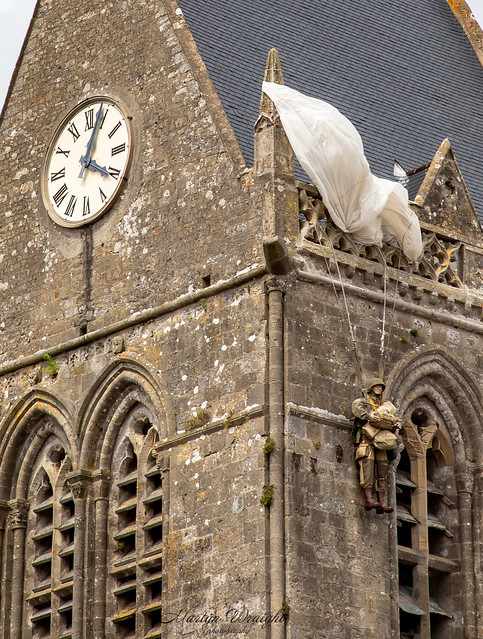 Private John Marvin Steele - Sainte-Mère-Église Church, Normandy, France.