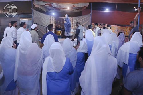 Satguru Mata Ji showering blessings at Samagam Canteen