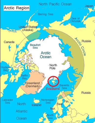Mapa de situación de Svalbard