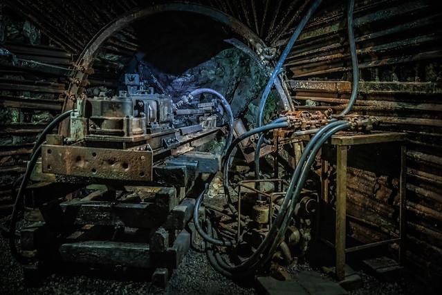 Blegny mine pneumatic drill