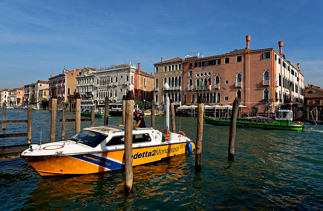 Venezia / Canal Grande / Ca' d'Oro -  Ca' Sagredo / From Campo della Pescaria