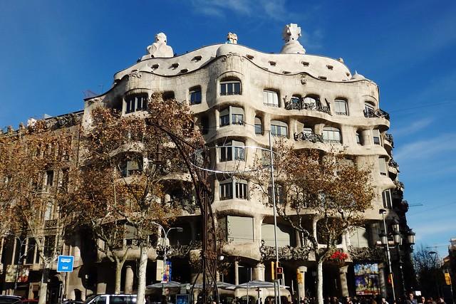 Barcelona - Casa Milá, La Pedrera de Gaudí.