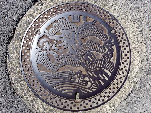 Karatsu Saga, manhole cover (佐賀県唐津市のマンホール)