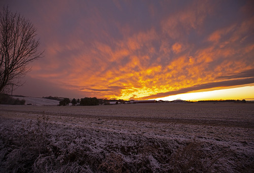 friday tgif snow snowy november firstsnow sunset crazy beautiful home rural farm pond peaceful red amazing incredible life sun sky clouds canon 2019