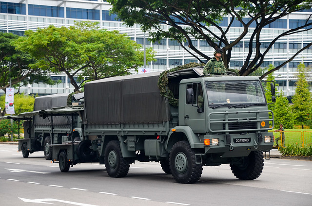 Singapore Army MAN 16.284 LAERC 5 Ton Truck with Mobile Field Kitchen