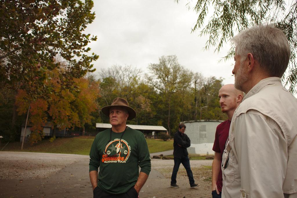 Professor David Hajidk, Dylan Belcher, Will Ponder, Professor Steve Sharp, Environmental Capstone 1 (1), Field Checking, Warren County, Tennessee