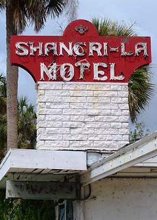 FL, New Smyrna Beach-U.S. 1 Shangri-La Motel Neon Sign