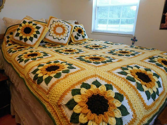 sunflowers crochet (1)