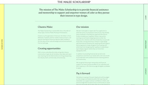 Website for The Malee Scholarship