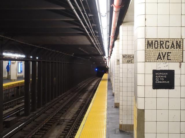 201910092 New York City subway station 'Morgan Avenue'
