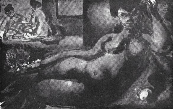 01 StedelijkMuseumAmnsterdanGeorgesRouault1952 - Cat15 Odalisque OlieOpDoek1907