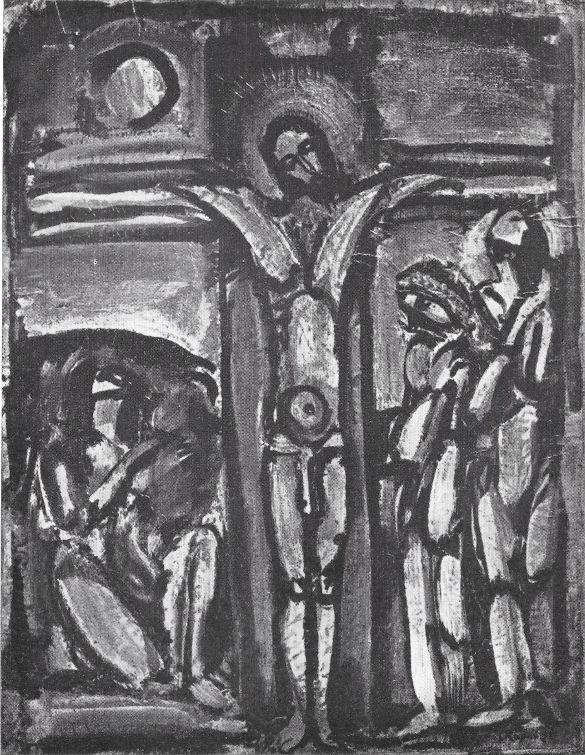 06 StedelijkMuseumAmnsterdanGeorgesRouault1952 Cat38 Crucifixion OlieOpDoek 1938