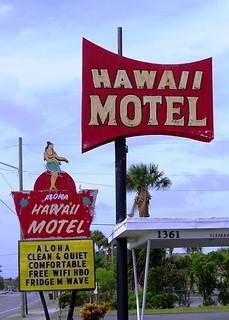 FL, Daytona Beach-U.S. 1 Hawaii Motel Neon Sign