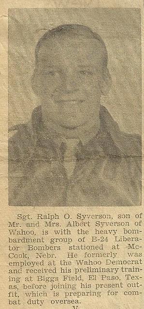 WW II - Newspaper Article