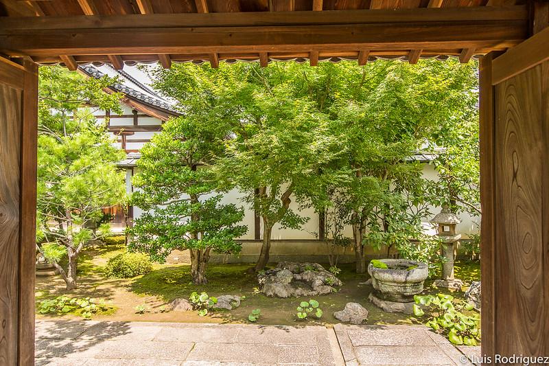 Detalles del jardín del templo Hoshun-in