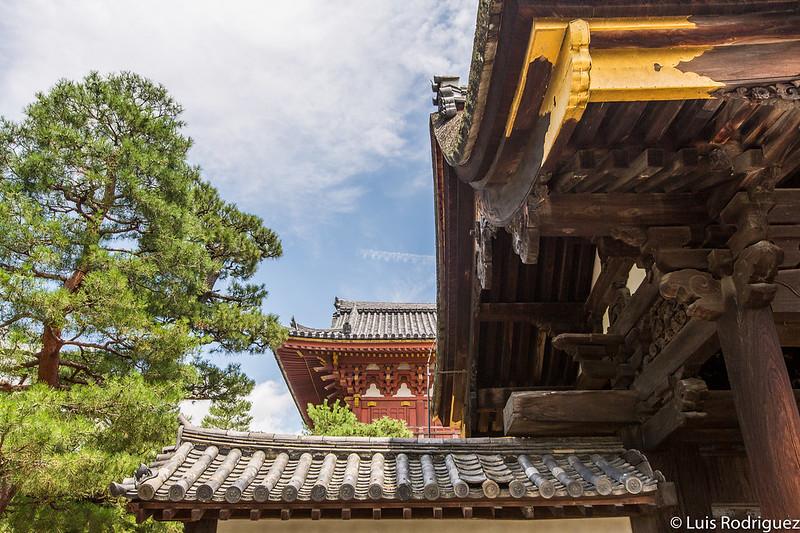 Detalles de las puertas del complejo del templo Daitokuji