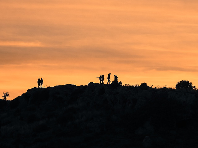 silhouettes by the sunset