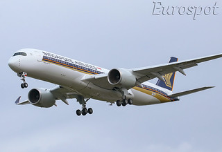 F-WZGZ Airbus A350 Singapore Airlines