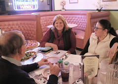 Rep. Haines provides a legislative update for residents at Papa Z's Pizza in Westchester
