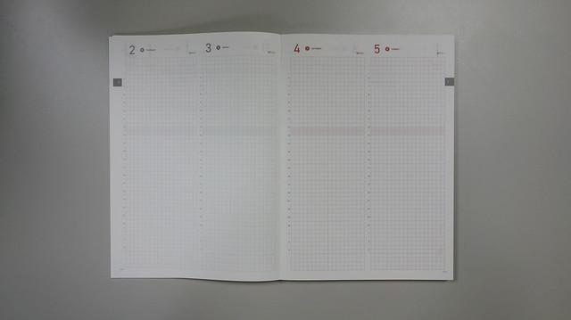 日記事,週四到週日是一頁兩日的配置@Take a Note 2020手帳