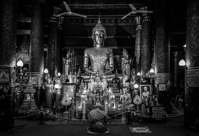 Meditation of the Buddhist Monk (Luang Prabang, Laos. Gustavo Thomas © 2019)