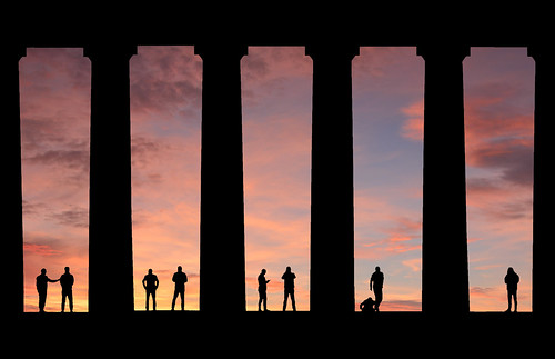 art men nationalmonument sunrise silhouette