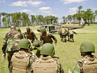 NMCB-21 conducting MEDEVAC drills Camp Shelby MS,