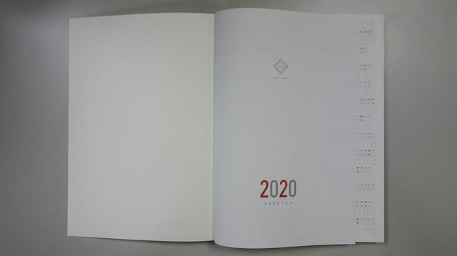 翻開手帳第一頁入眼的畫面@Take a Note 2020手帳