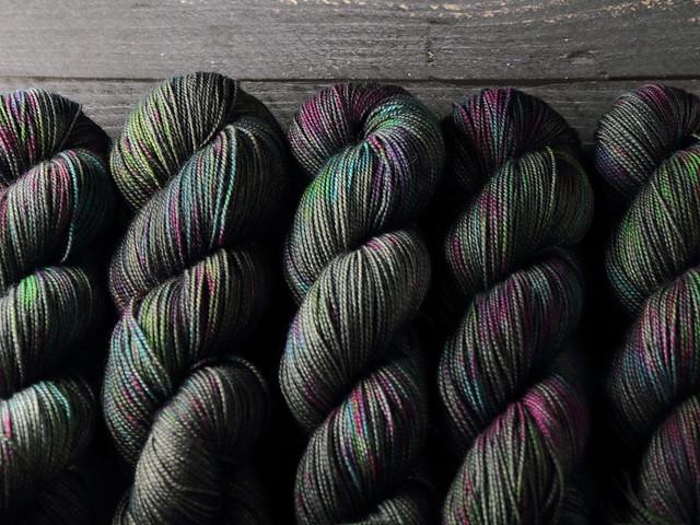 Favourite Sock – pure merino wool superwash 4 ply/fingering hand-dyed yarn 100g – 'Space Race'