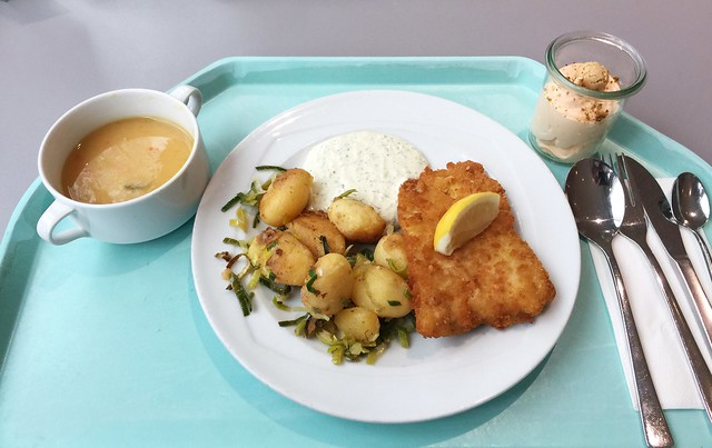 Pollack with remoulade & leek potatoes / Seelachs mit Remoulade & Lauchkartoffeln