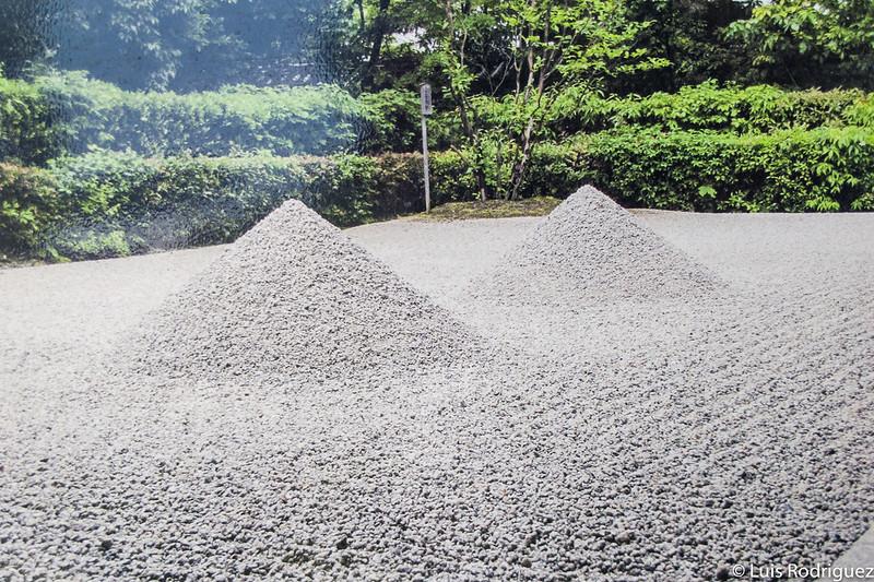 Foto de una foto del famoso jardín zen del templo Daisen-in