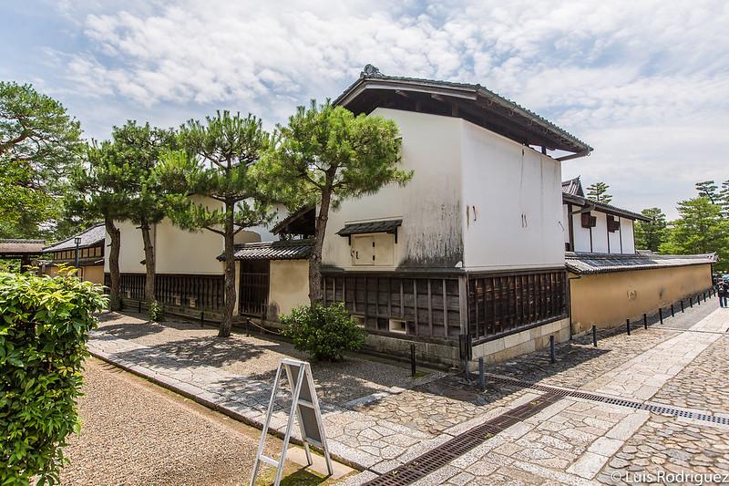 Almacenes vistos desde la zona del templo Daisen-in