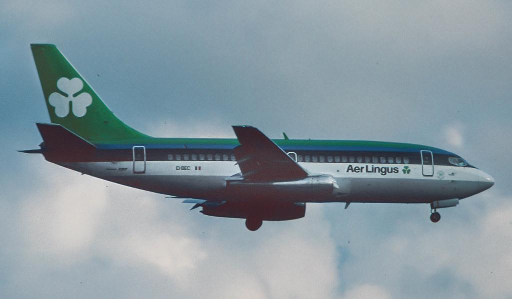 EI-BEC Aer Lingus Boeing 737-248 at FRA 1986