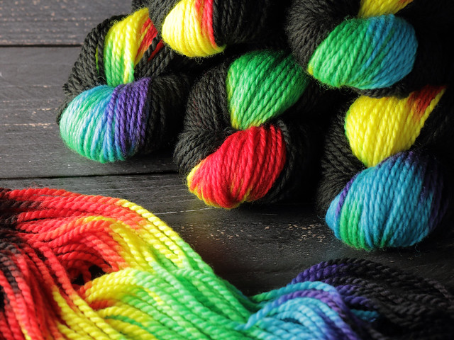 Awesome Aran – pure British superwash wool hand-dyed yarn 100g – 'ZX'