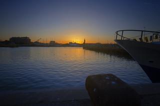tramonto al porto 1