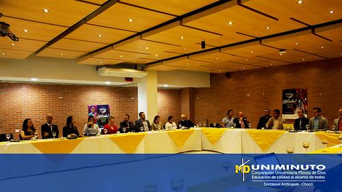 Delegación de la universidad de Sherbrooke visitó a UNIMINUTO Sede Bello.