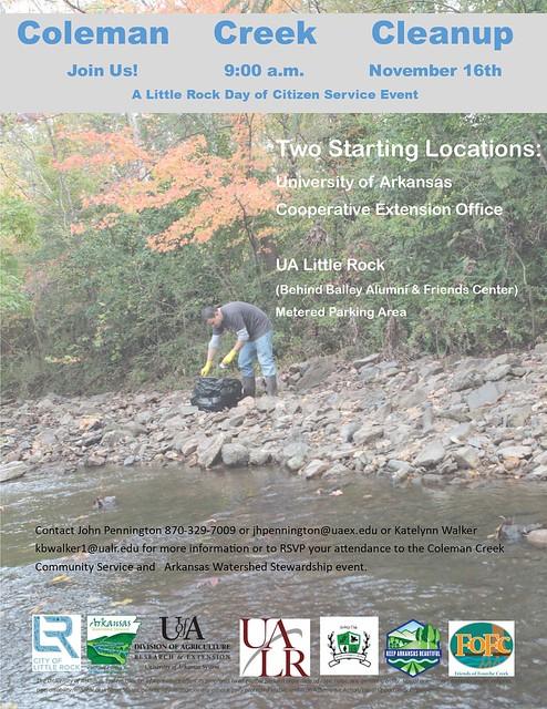 Coleman Creek Cleanup Flyer 2019
