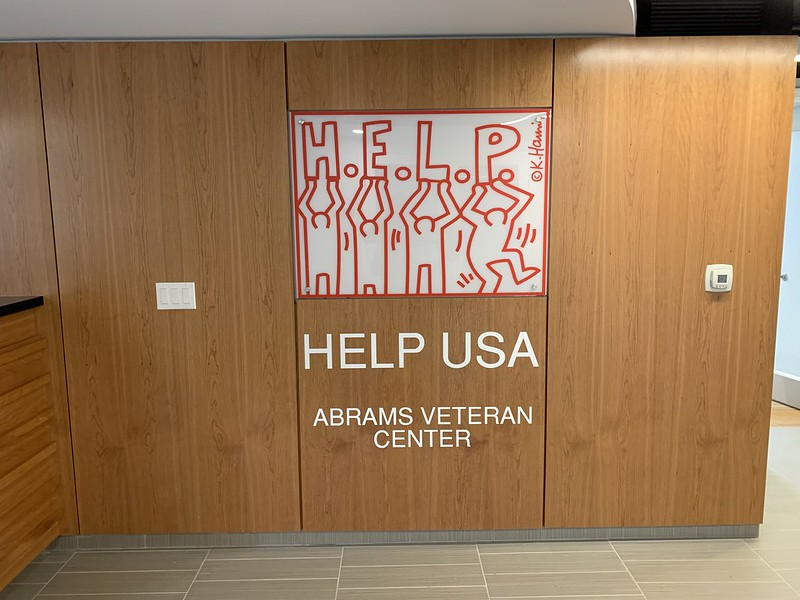 Photo of the entry way to Abrams Hall 14 South, showing the text